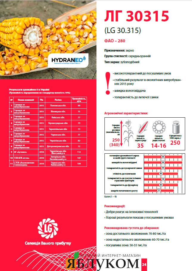 Семена кукурузы ЛГ 30315
