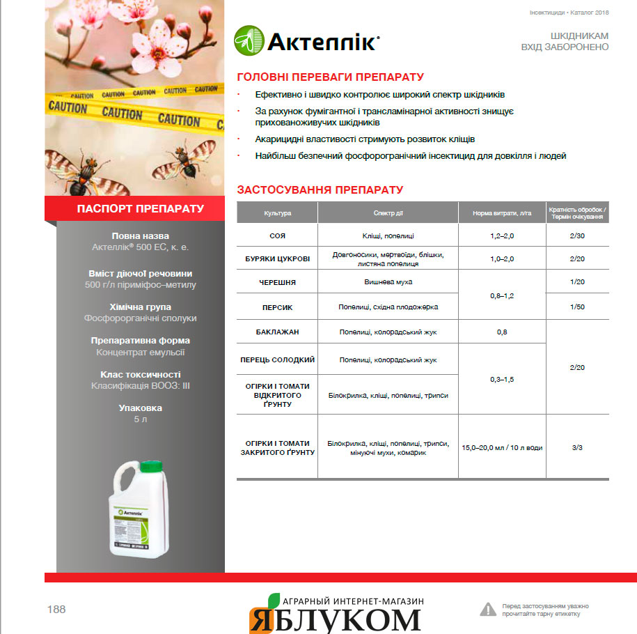 Инсектицид Актеллик 500 КС
