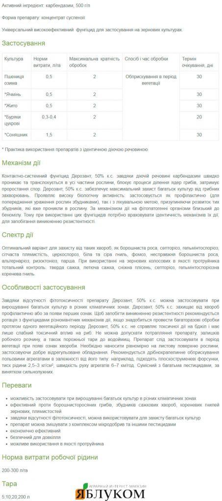 Фунгицид Дерозант