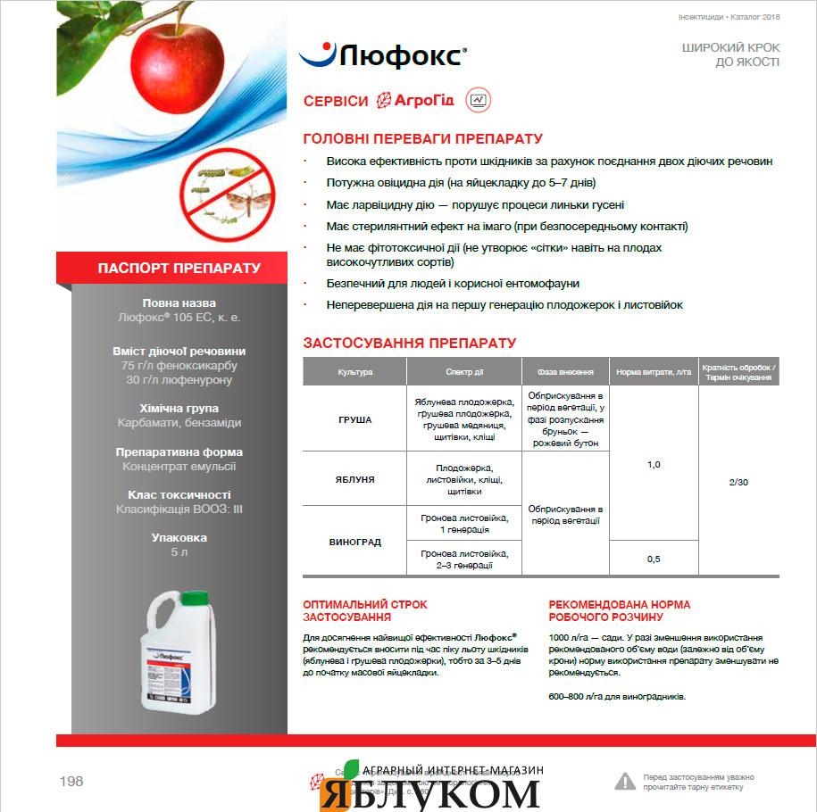 Инсектицид Люфокс 105 ЕС