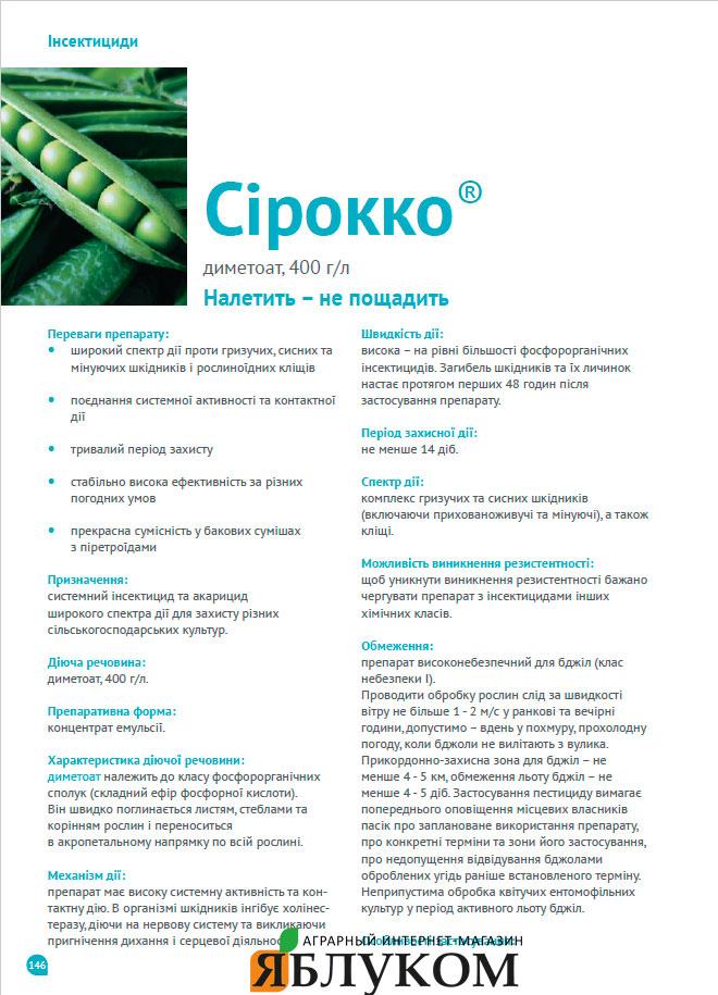 Инсектицид Сирокко