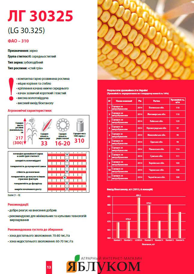 Семена кукурузы ЛГ 30325