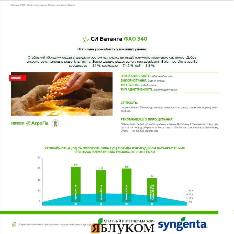 Семена кукурузы СИ Батанга