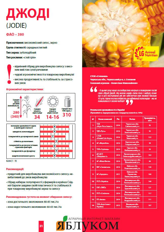 Семена кукурузы Джоди