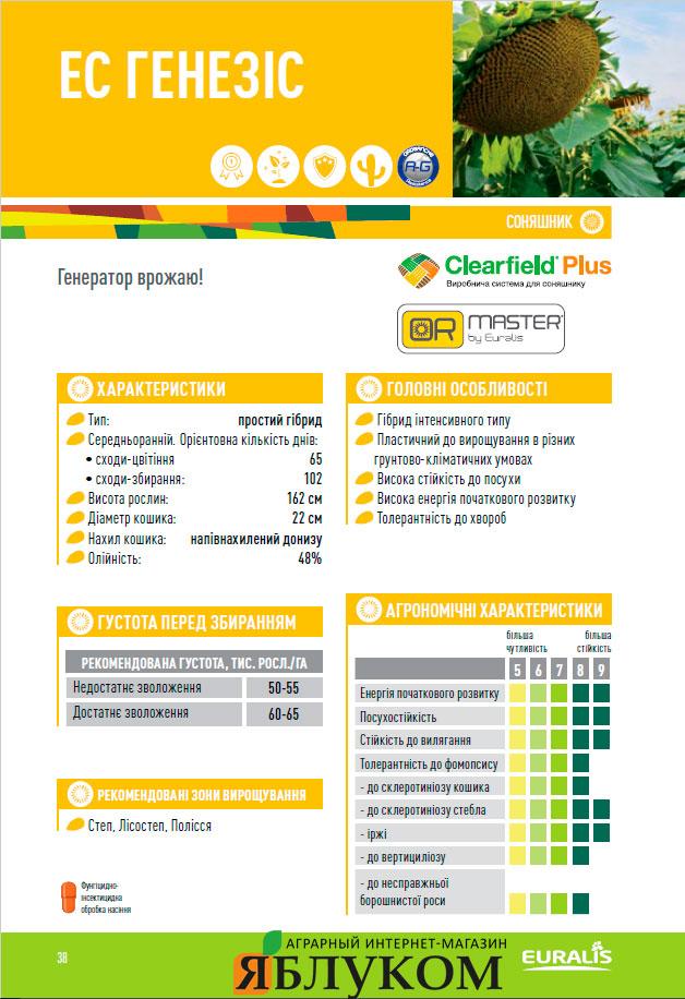 Семена подсолнечника ЕС Генезис