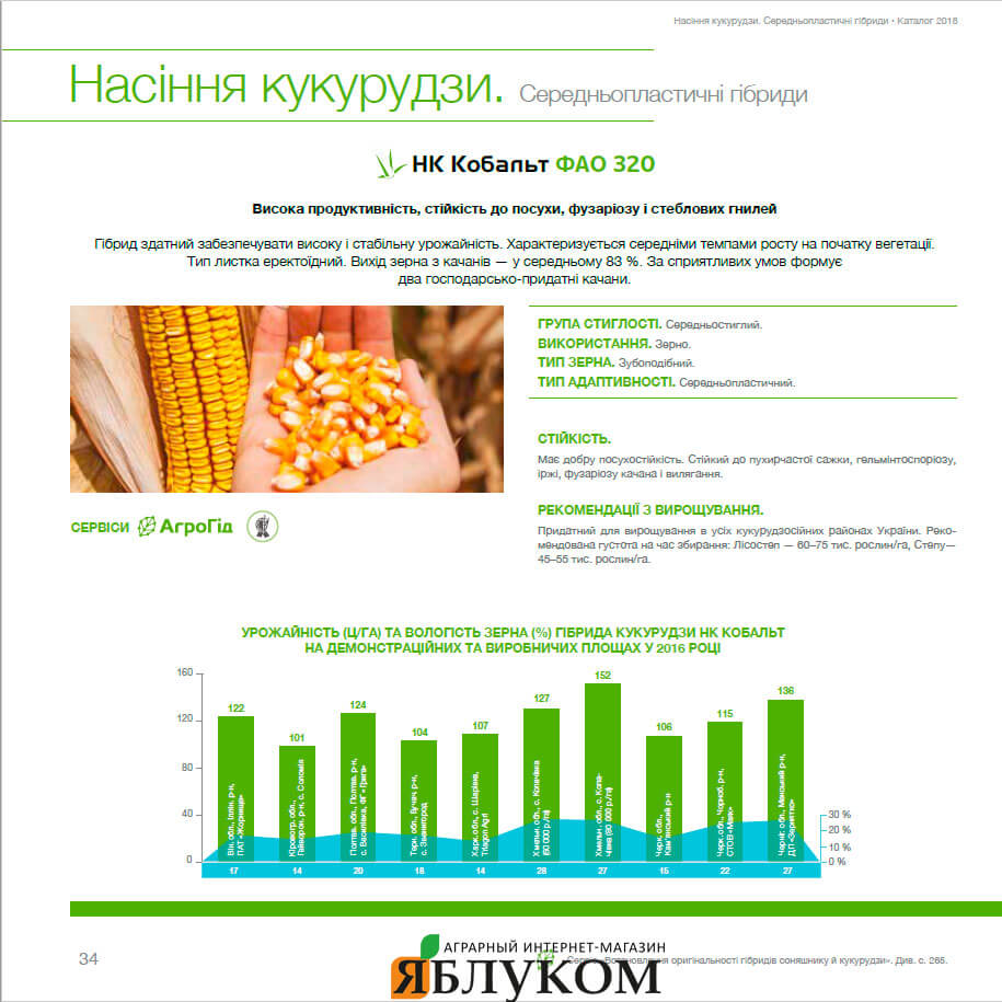 Семена кукурузы НК Кобальт