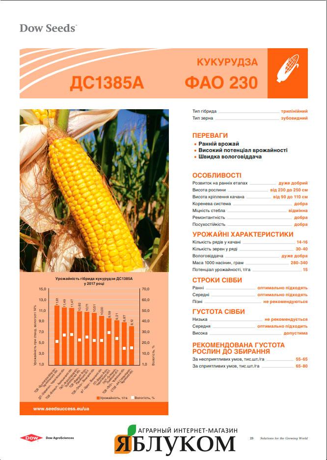 Семена кукурузы ДС1385A