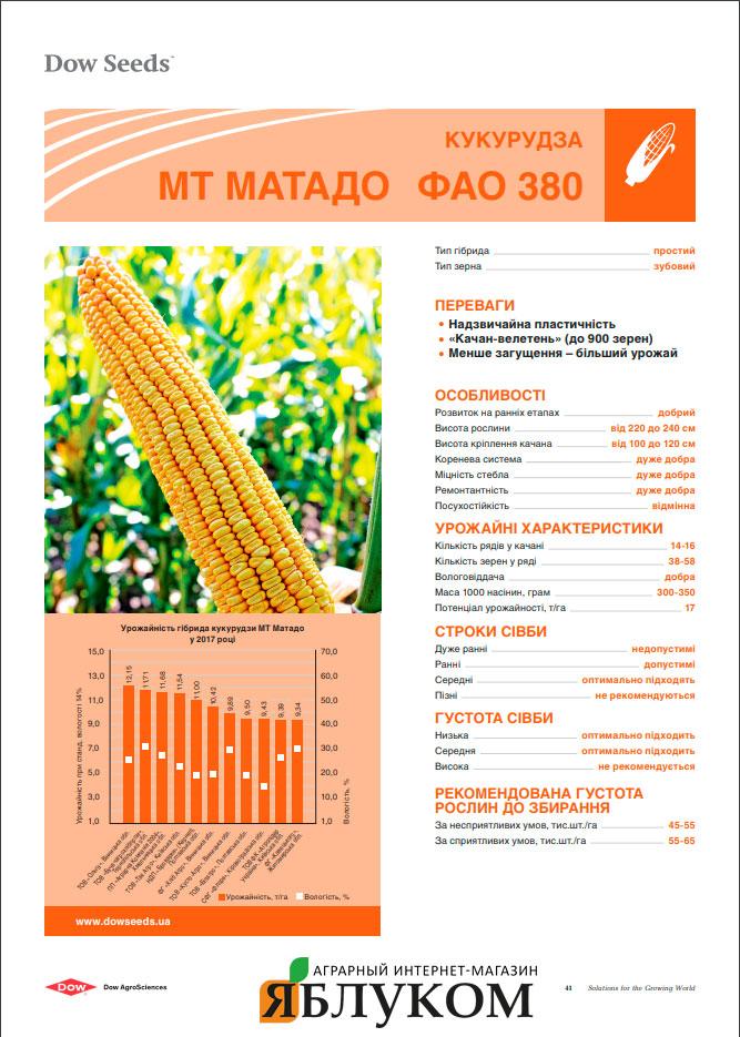 Семена кукурузы МТ Матадо