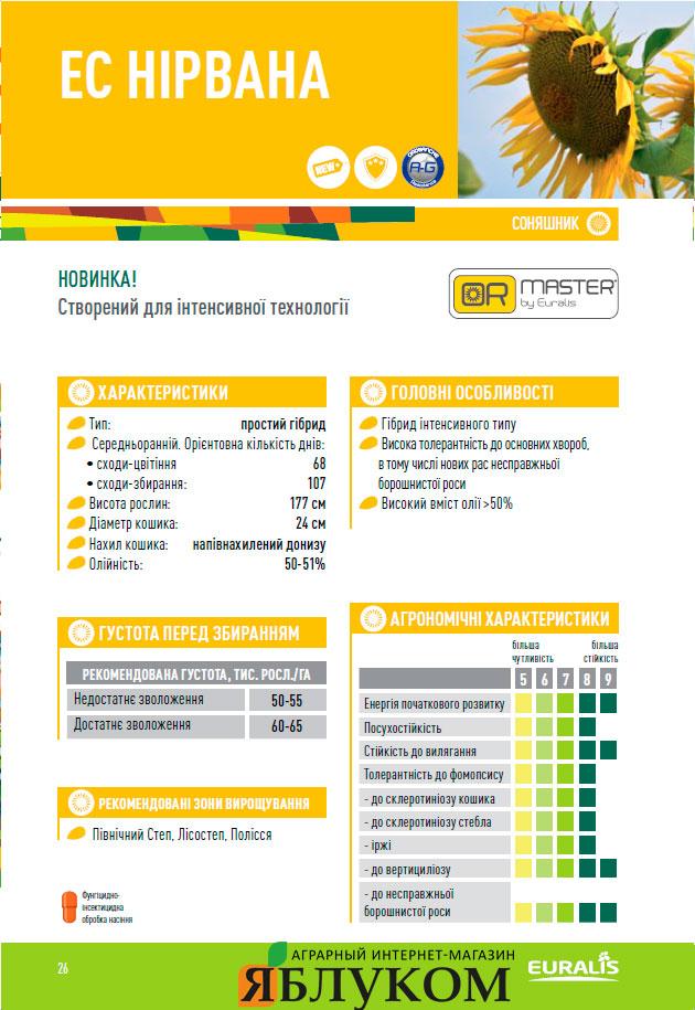 Семена подсолнечника ЕС Нирвана