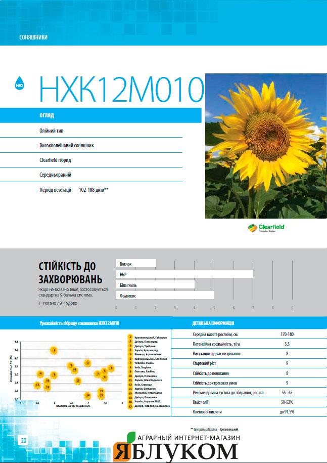 Семена подсолнечника НХК12М010