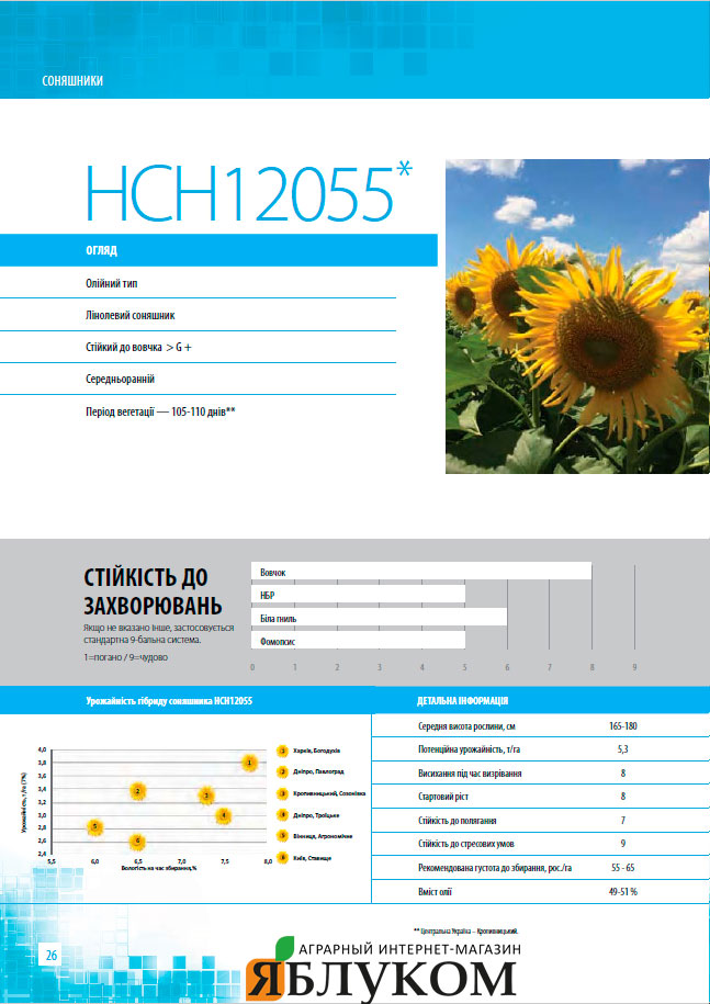 Семена подсолнечника НСН12055