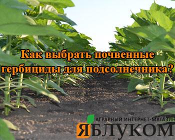 Как выбрать почвенные гербициды для подсолнечника? Опыт специалистов.