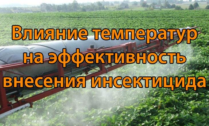 Влияние температур на эффективность внесения инсектицида